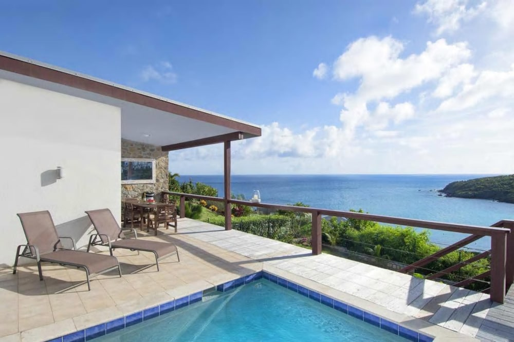 Pool, Villa With 3 Bedrooms in Sint Maarten, With Wonderful sea View, Private Pool, Terrace - 200 m From the Beach