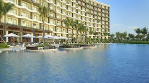 Indoor pool, 5 outdoor pools, pool cabanas (surcharge), pool umbrellas