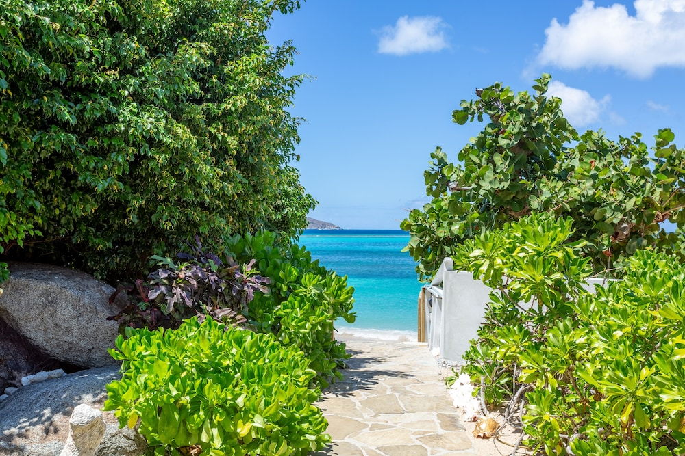 Property Grounds, Sea Fans - 4 BR Beachfront Villa on Spectacular Mahoe Bay