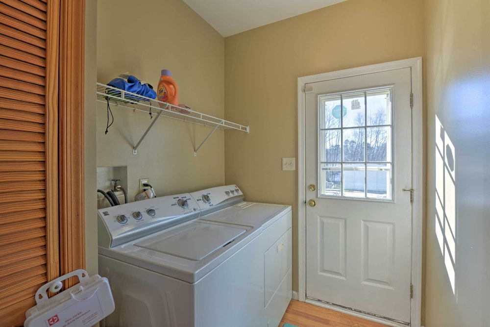 Laundry Room, Egg Harbor Township Property w/ Pool + Hot Tub Hut