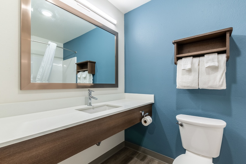 Bathroom, WoodSpring Suites Colton
