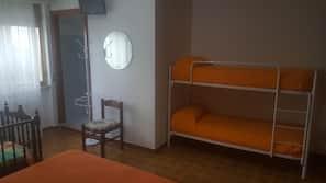 Desk, free cots/infant beds, linens