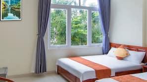 Tempat tidur Select Comfort, minibar, Wi-Fi gratis, dan seprai linen