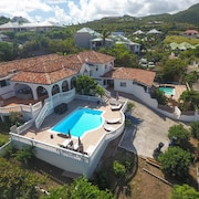 Villa With 5 Bedrooms in Saint Martin, With Wonderful sea View, Private Pool and Terrace