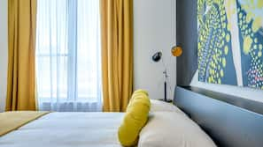 Memory foam beds, in-room safe, individually decorated