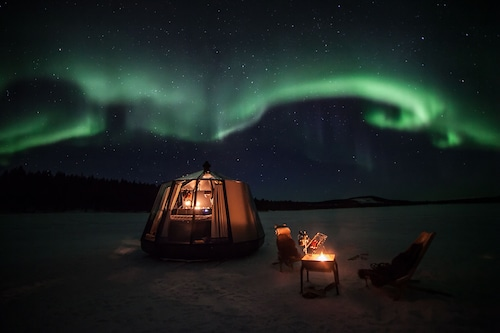 Aurora Borealis Northern Light Glass Igloo
