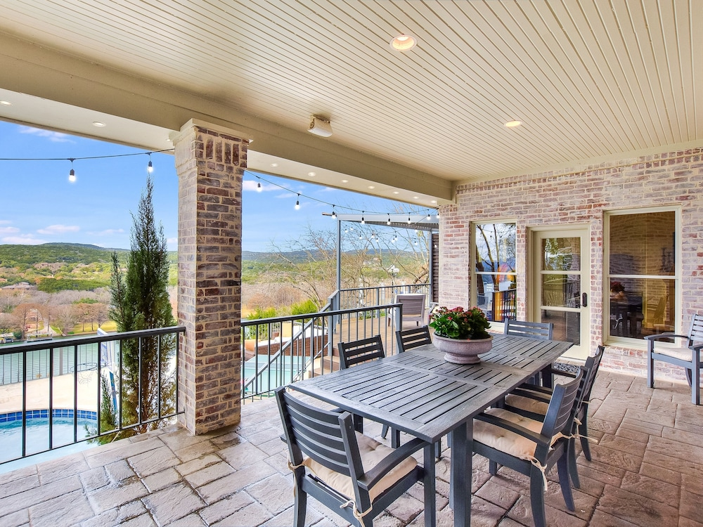 Balcony, The Arrive Vista Estate Above Lake Austin 5 Bedroom Home