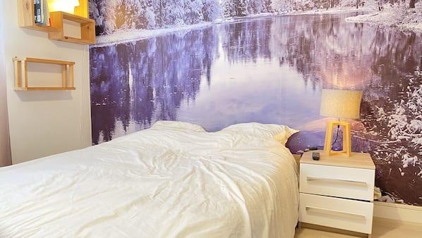 1 chambre, fer et planche à repasser, lit parapluie, Wi-Fi