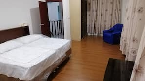 Individually furnished, desk, blackout curtains, iron/ironing board