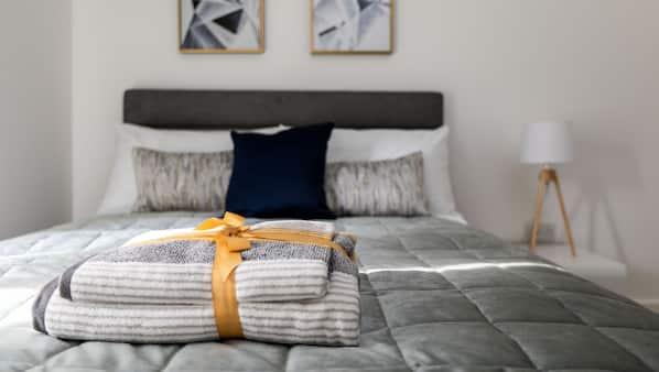 2 soverom, strykejern/-brett, gratis wi-fi og sengetøy