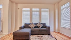 TV, fireplace