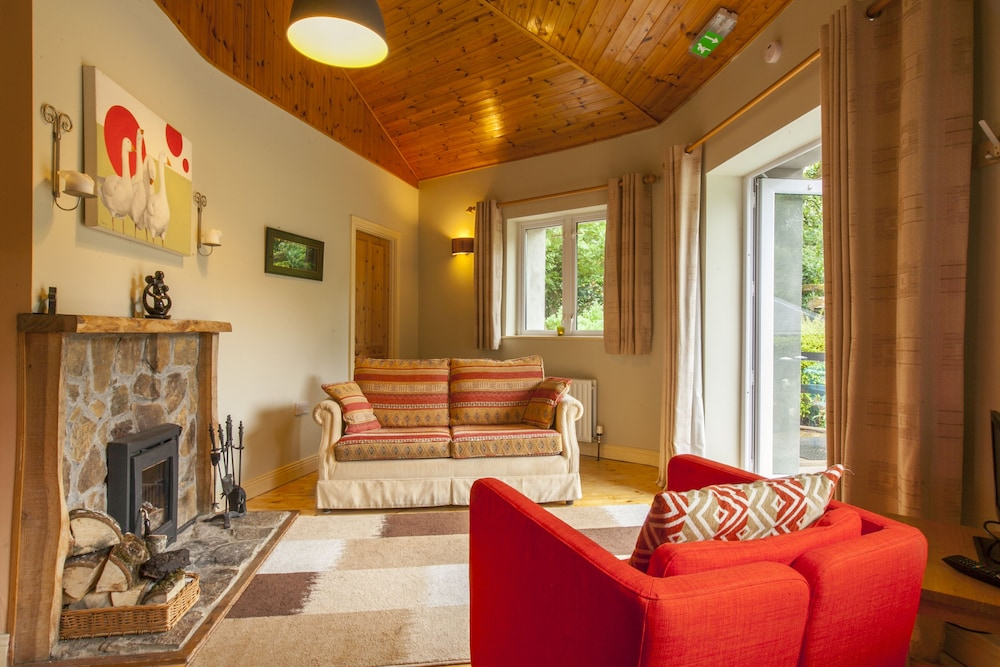 Living Room, Luxury Stone Cottage in the Wicklow Mountains