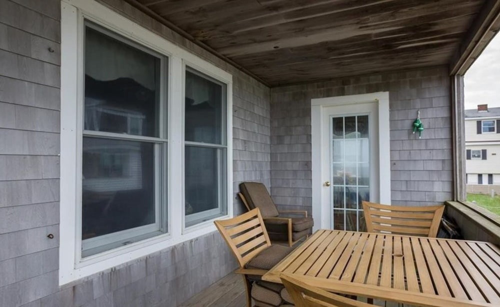 Balcony, Quintessential Remodeled Oceanfront Beach Cottage