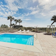 New Listing! Beachfront W/ Pool & Large Deck 5 Bedroom Home
