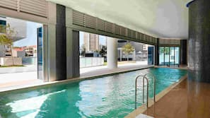 Indoor pool, 3 outdoor pools, pool umbrellas, pool loungers
