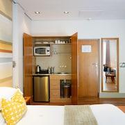 ครัวขนาดเล็กในห้องพัก