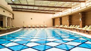 Indoor pool, 3 outdoor pools, pool umbrellas