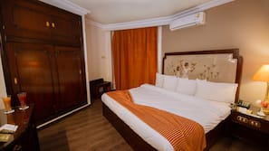 Egyptian cotton sheets, pillowtop beds, in-room safe