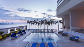 4 outdoor pools, cabanas (surcharge), pool umbrellas