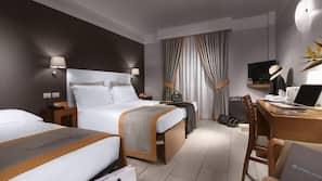 Egyptian cotton sheets, premium bedding, free minibar items