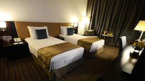 Egyptian cotton sheets, pillow top beds, minibar, in-room safe