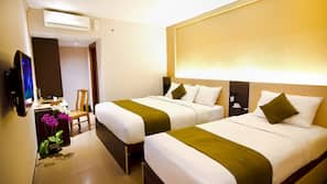 In-room safe, individually furnished, blackout curtains, free WiFi