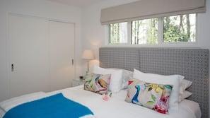 2 bedrooms, premium bedding, pillow top beds, minibar
