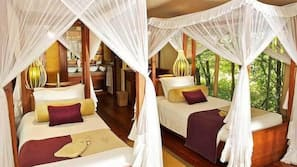 Premium bedding, pillowtop beds, desk, free cribs/infant beds
