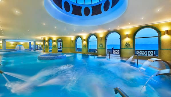 3 indoor pools, 3 outdoor pools, cabanas (surcharge), pool umbrellas