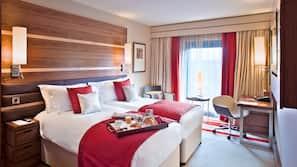 Premium bedding, memory-foam beds, in-room safe, desk