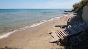 Beach nearby, sun loungers, beach umbrellas