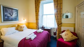 Iron/ironing board, free cots/infant beds, free WiFi, linens