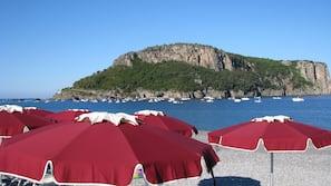 Private beach, sun loungers, beach umbrellas, scuba diving