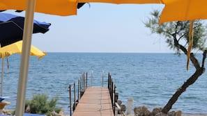 Spiaggia privata, ombrelloni, immersioni subacquee, pesca