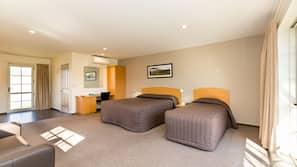 Premium bedding, Select Comfort beds, desk, soundproofing