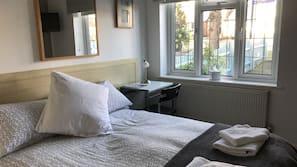 Desk, free WiFi, bed sheets