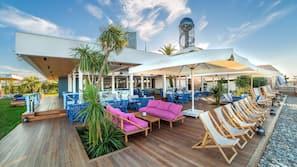 Beach nearby, free beach shuttle, beach cabanas, sun loungers