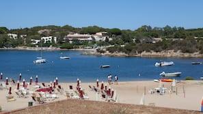 Plage, serviettes de plage, beach-volley