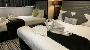 Egyptian cotton sheets, down duvet, pillow top beds, in-room safe