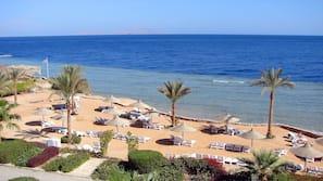 전용 해변, 일광욕 의자, 비치 파라솔, 비치 타월