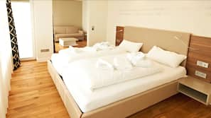 In-room safe, soundproofing, free wired internet, bed sheets