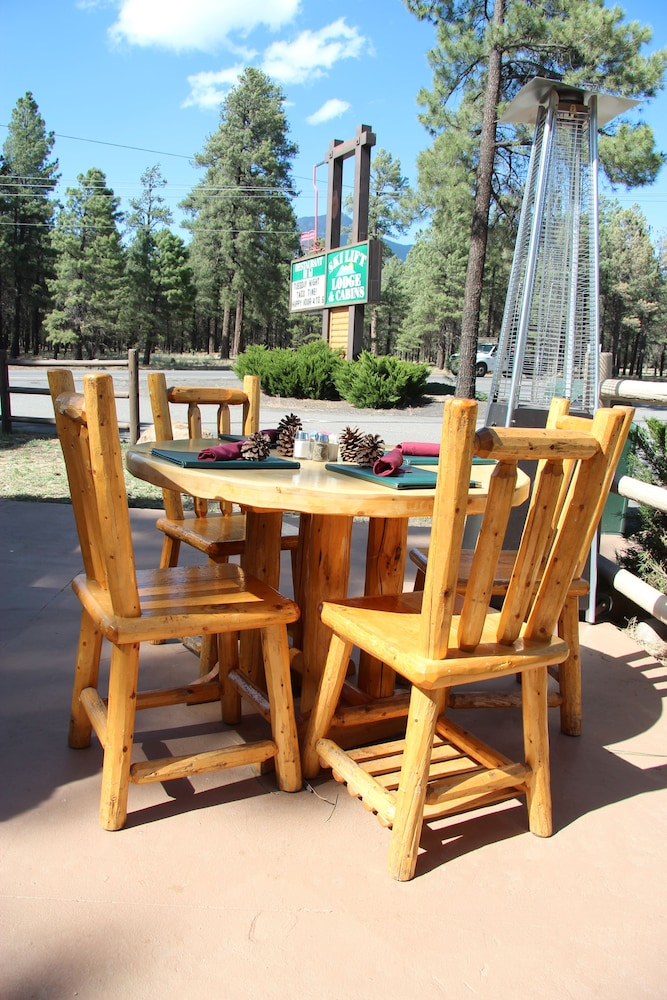 Outdoor Dining, Ski Lift Lodge & Cabins