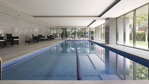 Indoor pool, lifeguards on site