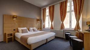 Luxe beddengoed, een kluis op de kamer, individueel gedecoreerd