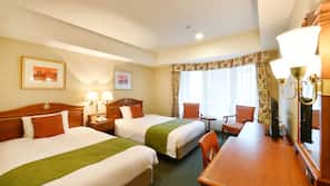 Frette Italian sheets, premium bedding, Select Comfort beds, minibar