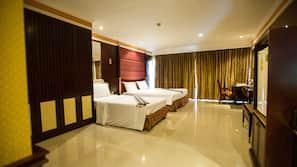 高档床上用品、羽绒被、Select Comfort 床、客房内保险箱