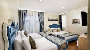 Premium bedding, down duvets, memory-foam beds, minibar