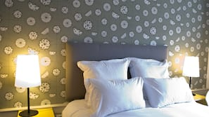 Egyptian cotton sheets, individually decorated, blackout curtains