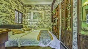 1 chambre, literie de qualité supérieure, couette en duvet d'oie