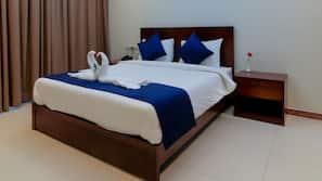 Premium bedding, memory foam beds, in-room safe, desk